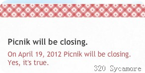 picnik closing