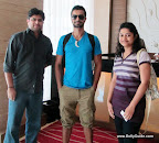 Reader Devdatta and Nandita Sarolkar met actor Ashmit Patel in Goa.