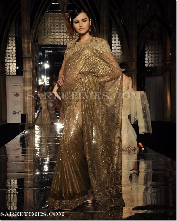 Tarun_Tahiliani_Gold_Designer_Saree