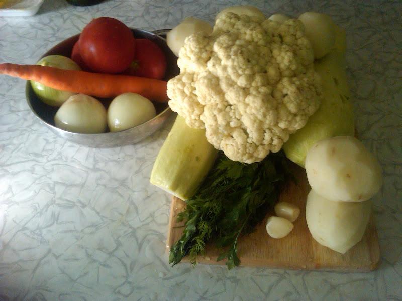 інгредієнти овочевого рагу