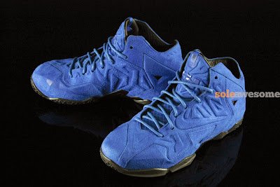 nike lebron 11 nsw sportswear ext blue suede 4 04 Nike LeBron XI EXT Blue Suede   1 of 3   NSW Retail Version