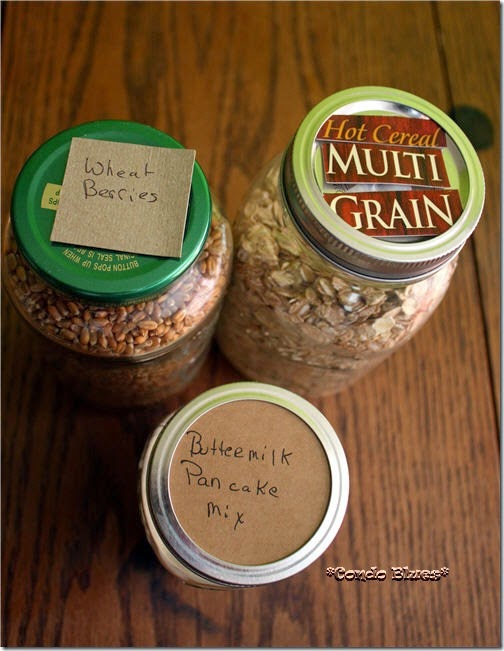 mason jar food organizer