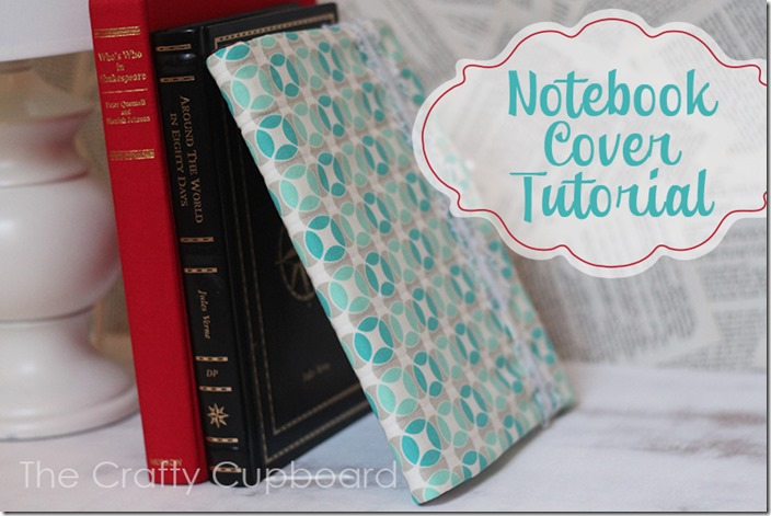 Fabric Notebook Cover Tutorial for standard composition notebooks