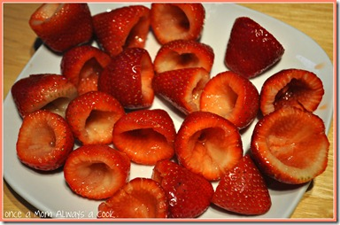 Cored Strawberries