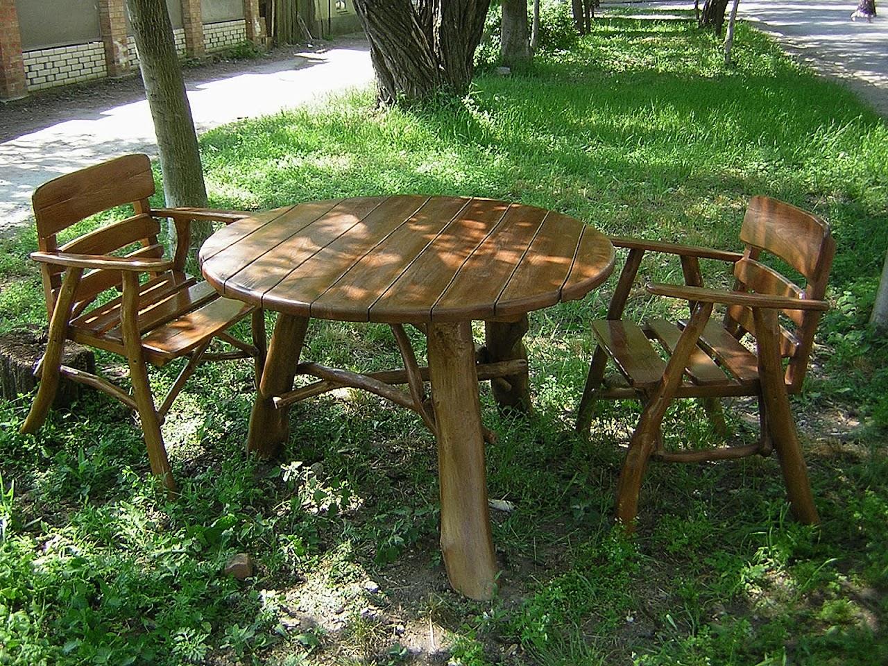 Садовый стол для дачи своими руками - способы 46