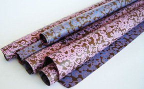 pink and blue-plum blossoms gift wrap