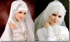 Hiasan Jilbab Pengantin