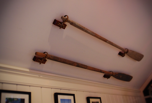 Oars mounted on the wall