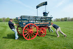 The Willis boys putting the Wadworth cart into position