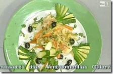 Piccatine di pollo alla Mediterranea con ventaglio di zucchine