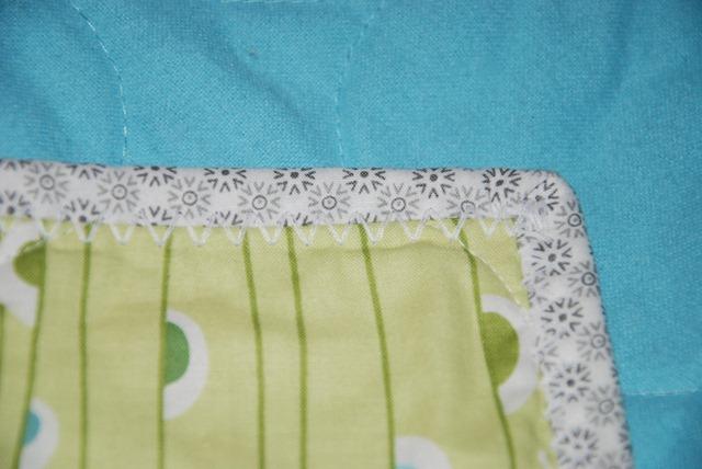 Hues Quilt Detail of Binding bb