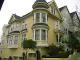 Victorian style houses on the streets in San Francisco (I like this one, particularly)