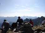 Resting on the Pyramide de lherbes (2439m) on the GR10 looking East
