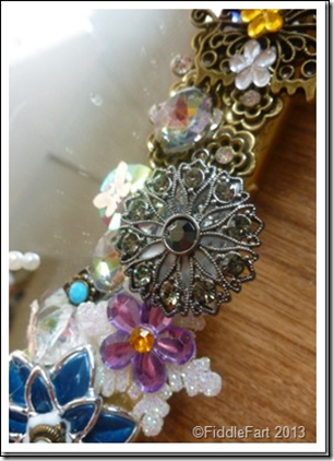 Jewelled Mirrors Upcycled 10