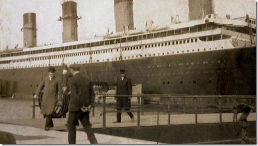 Olympic na última fase de conclusão, Belfast 1911.