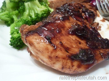 Raspberry-Balsamic Glazed Chicken