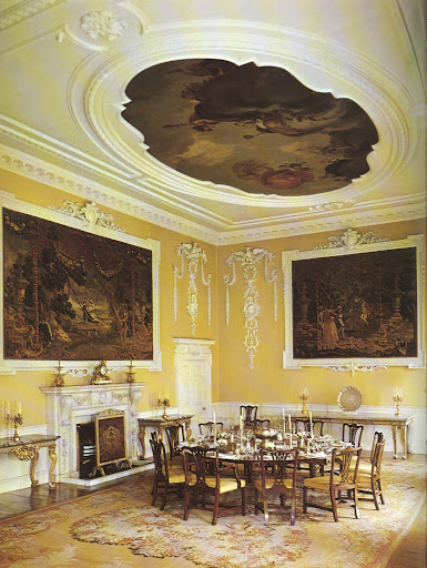 Surprisingly, the breath-taking and intricate detail filling this dining room of the Luttrellstown Castle was produced in the 1950s.