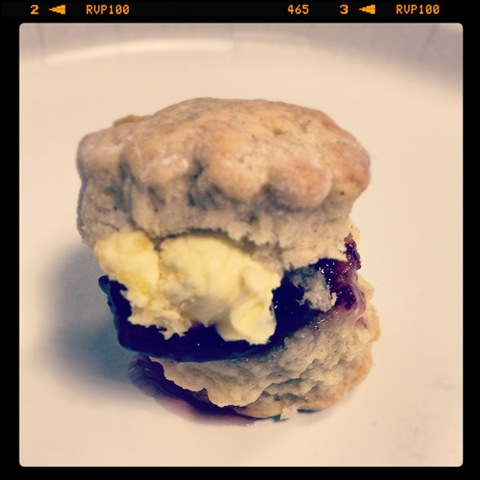 #139 - scone with Cornish clotted cream and jam