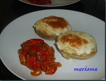patata rellena de carne,racion copia