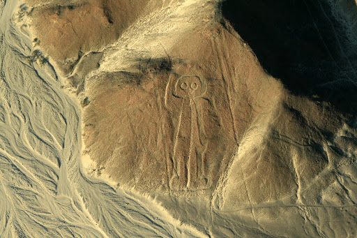 My favourite, the astronaut! And no doubt the source of many extra terrestrial Nasca theories!