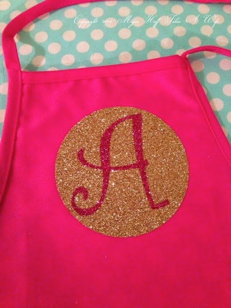 Personalized Monogrammed Apron with Cricut