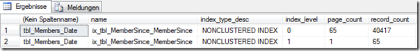 Indexauswertung - NONCLUSTERED MemberSince