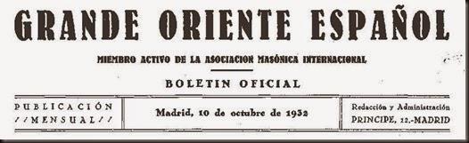 GRANDE ORIENTE PORTADA 1932