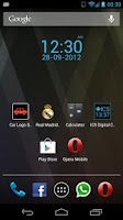 Screenshot of ICS Digital Clock Widget