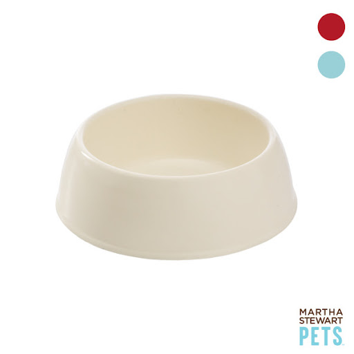 These silicone bowls are light enough to throw into your dogs travel bag. Martha Stewart (petsmart.com)