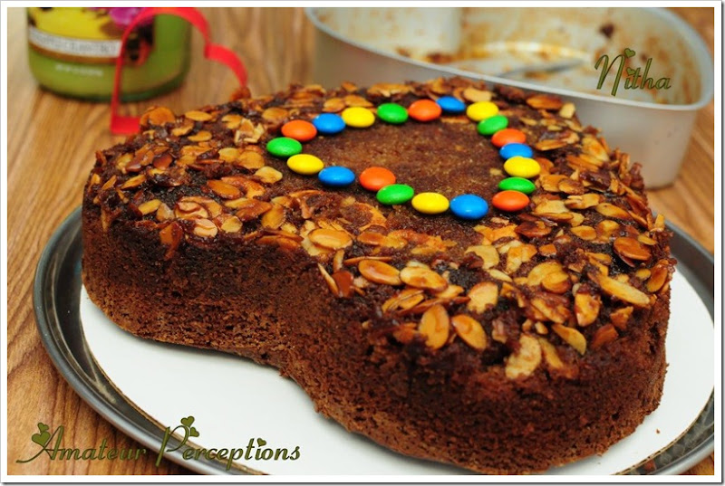 Chocolate Almond Upside Down Cake 7