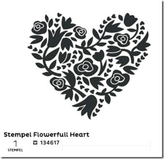 Stempel Flowerfull Heart (Small)