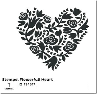 Stempel Flowerfull Heart (Small)