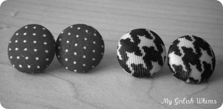 fabric button earrings tutorial
