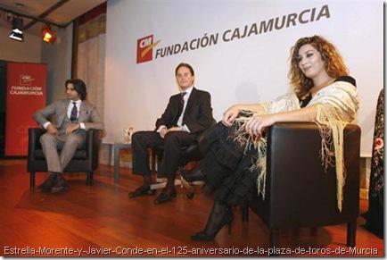 Estrella-Morente-y-Javier-Conde-en-el-125-aniversario-de-la-plaza-de-toros-de-Murcia