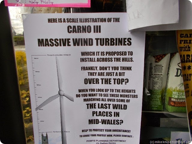 poster in caersws tearoom