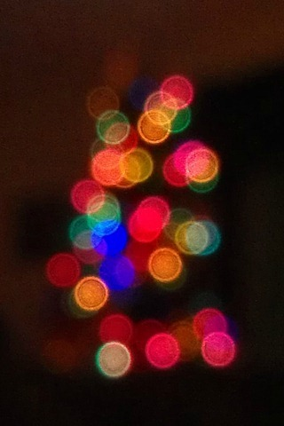 Christmas bokeh dots
