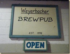 weyerbacher brewpub sign