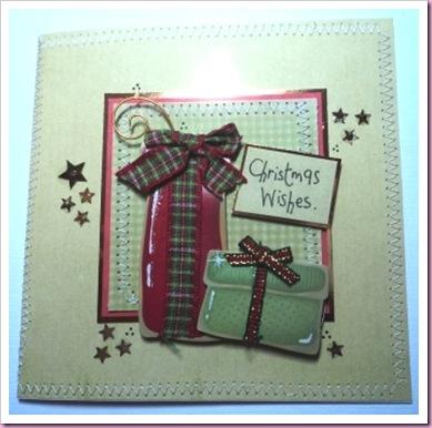 Sewn Christmas Present Card