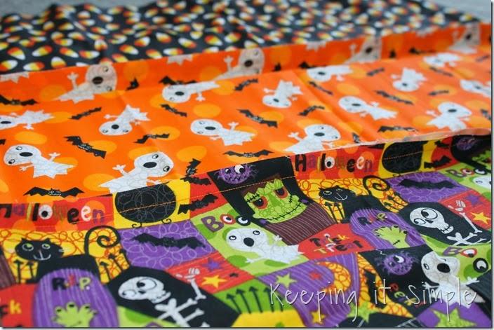 Halloween rag table runner (3)