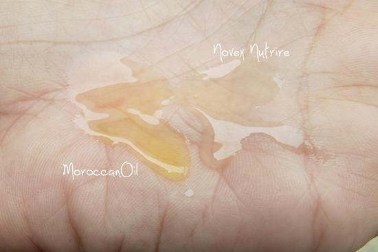 Comparação Novex Nutrire e MoroccanOil