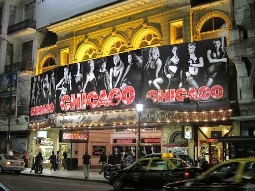 Chicago, El Musical Marquees in Buenos Aires.