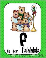 F is for Falalalala