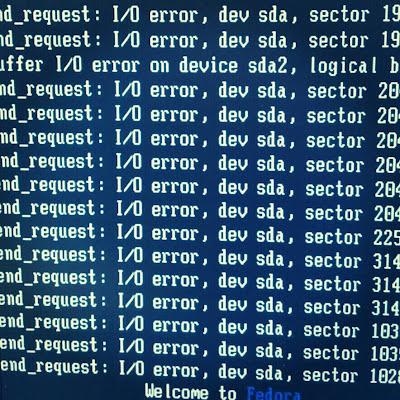 I/O errorの文字列
