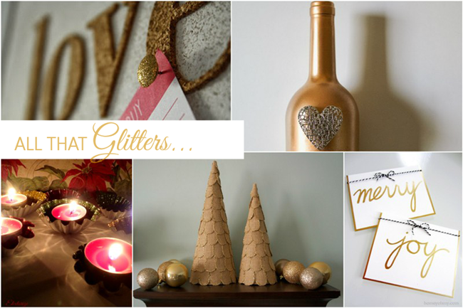 All That Glitter {gold} features via homework