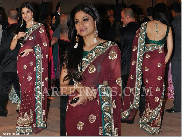 Shamita_Shetty_Saree