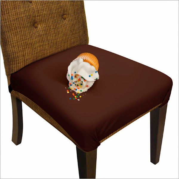 JR00019 White Cropped Stroked Dining Chair Seat Covers