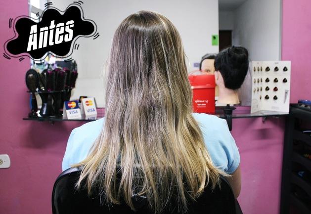 luzes em cabelos virgem