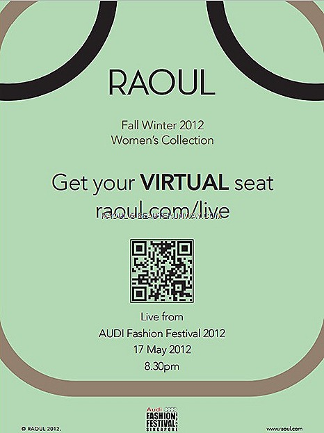 RAOUL Fall Winter 2012 2013 Women dress bags accessories coat skirt pant suit Audi Fashion Festival Singapore Store