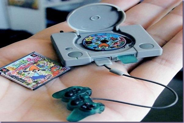 Miniatura-Playstation-Controle-Jogo-Parappa-The-Rapper