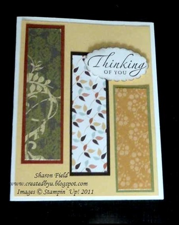 sincere salutations cas scrap card